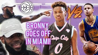 Download LeBron James WATCHES BRONNY VS STEPH CURRY JR in SOUTH BEACH! King James Back 2 Miami?!?! Video