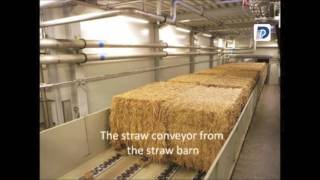 Download Straw bales' trip in biomass power plant Video
