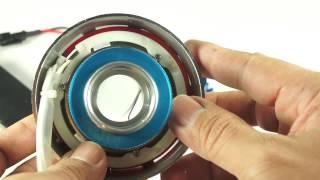 Download ขายไฟโปรเจคเตอร์มอเตอร์ไซค์ ไฟวงแหวน2ชั้น หลอดไฟหน้าLEDในตัว Video