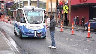 Download Прокатился на первом в мире автономном автобусе без водителя. Video