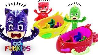 Download PJ Masks Romeo Paints Vehicle Wrong Colors! Video
