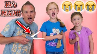Download Angry Dad Chops Kids Hair Off After Epic Slime Prank!!! New Hair Cuts! Video