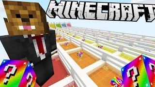 Download Minecraft RAINBOW LUCKY BLOCK RACE!   (Minecraft Modded Minigame) Video