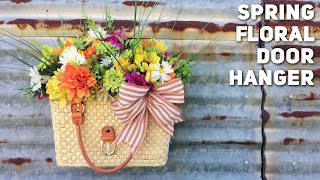Download How To Make a DIY Dollar Tree Floral Door Hanger From A Purse - Thrift Store Makeover - Spring 2020 Video