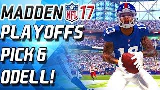 Download FREE SAFETY ODELL BECKHAM INTERCEPTION MACHINE! PLAYOFFS! - Madden 17 Ultimate Team NFL mut 17 Video