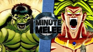 Download One Minute Melee S4 EP2 - Hulk Vs Broly (Marvel vs DBZ) Video