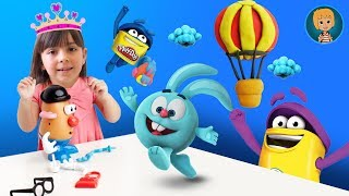 Download Elsa frozen and jack frost funny football - play doh frozen elsa stop motion video Video