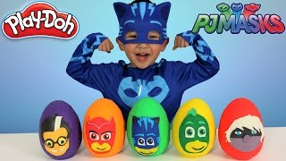 Download Disney PJ Masks Play-Doh Surprise Eggs Opening Fun With Catboy Gekko Owlette Ckn Toys Video