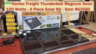 Download Harbor Freight 100 watt solar kit #63585 NEW Thunderbolt Magnum (SEE INFO BELOW) Video