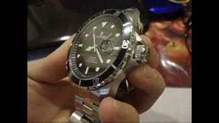 Download New mens croton mechanical rolex look black face Ret $375 Video