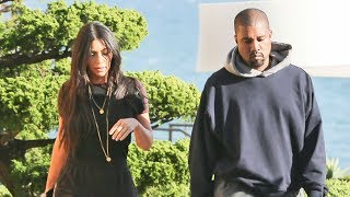 Download Kim And Kanye Look Somber In Malibu When Asked About Ariana Grande Concert Video