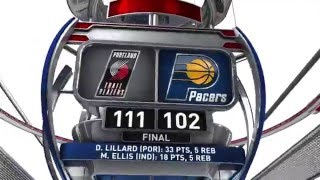 Download Portland Trail Blazers vs Indiana Pacers - February 28, 2016 Video