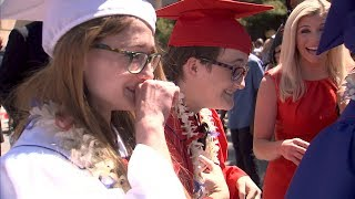 Download FOX5 Surprise Squad: Homeless Triplets Defy Odds Then Pulled from Graduation After Getting Diplomas Video