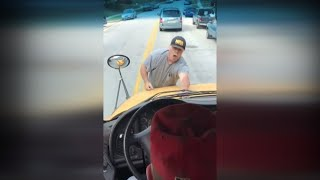 Download Retired Teacher Climbs Onto Hood of Moving School Bus Video