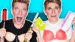 Download GUYS TRY GIRL PRODUCTS | Collins Key Video