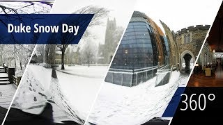 Download Snowfall on Duke Campus [360° video] Video
