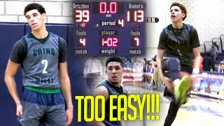 Download Lonzo Ball's EASIEST Game of His Life! Ball Bros CLOWNING in 74 Point BLOWOUT vs Los Osos Video
