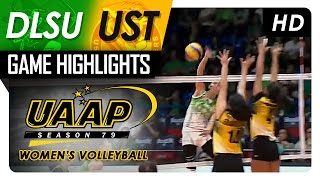 Download DLSU vs UST   Game Highlights   UAAP 79 WV   March 29, 2017 Video