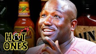 Download Hannibal Buress Freestyles While Eating Spicy Wings | Hot Ones Video