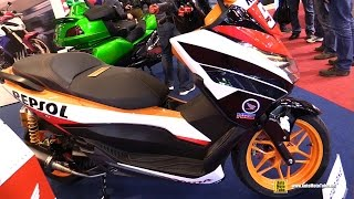 Download 2016 Honda Forza 125 Repsol by Star Bike - Walkaround - 2015 Salon de la Moto Paris Video