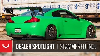 Download Dealer Spotlight | Slammered Inc. Widebody Turbo Infiniti G35 | Vossen x Work VWS-1 Video