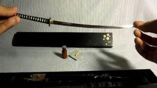 Download Japanese Sword Model Scale 1:4 - Handmade by kenji Video
