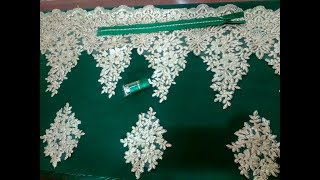 Download تفصيل و خياطة قندورة بتيل ترافايي مودال رائع للاعراس (الجزء الاول) Video