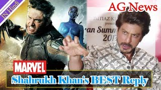 Download Shahrukh Khan's BEST Reply On Playing Wolverine In X Men Series AG Media News Video