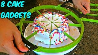Download 8 Cake Cutting Gadgets put to the TEST Video