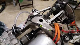 Download Tesla Model S - Motor and rear clip working in workshop Video