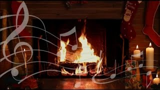 Download Cozy Yule Log Fireplace with Crackling Christmas Music! (HD) Video