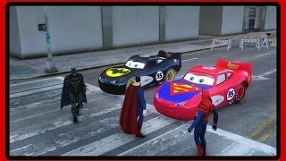 Download Superman vs Batman vs Spiderman Lighting Mcqueen l Toys and Tantrums Video