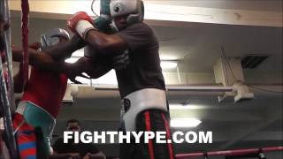 Download ADRIEN BRONER INTENSE SPARRING SESSION AT MAYWEATHER'S GYM; BREAKS WILL OF OPPONENT Video