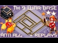 Download MY LAST TH 9 (TOWN HALL 9) FULLY MAXED WAR BASE    REPLAY PROOF    CLASH OF CLANS Video