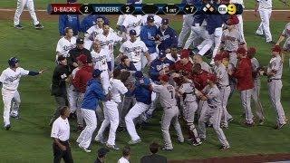 Download Wild brawl erupts between Dodgers, D-backs Video