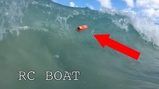 Download RC 3D printed boat vs Waves Video