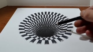 Download Drawing a Hole - Anamorphic Illusion Video