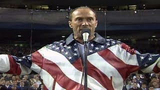 Download 2001 WS Gm4: Lee Greenwood sings ″God Bless the USA″ Video