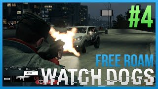 Download WATCH DOGS Free Roam Gameplay #4 - BLOCKER STUNTS (WatchDogs Single Player Free Roam) [PC 1080p] Video