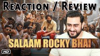 Download Reaction on SALAAM ROCKY BHAI Song | KGF Chapter 1 | Yash | Prashanth Neel Video