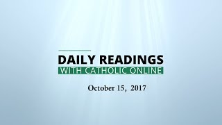 Download Daily Reading for Sunday, October 15th, 2017 HD Video