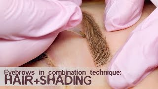 Download Eyebrows in combination technique: hair + shading Video