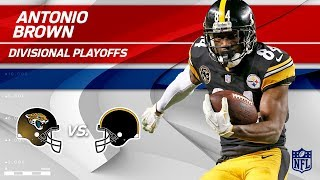 Download Antonio Brown's 7 Grabs, 132 Yards & 2 TDs! | Jaguars vs. Steelers | Divisional Round Player HLs Video