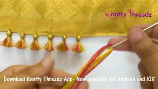 Download How to make Baby Kuchu Design using 2 colours | Double Colour Saree Tassels | knottythreadz Video
