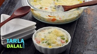 Download Baked Vegetable Au Gratin by Tarla Dalal Video