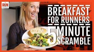 Download Power Breakfast For Runners | 5 Minute Veggie Scramble Video