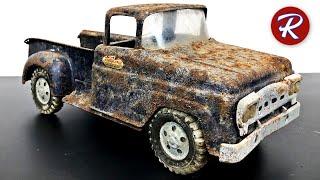 Download 1960s Stepside Tonka Pickup Truck Restoration Video
