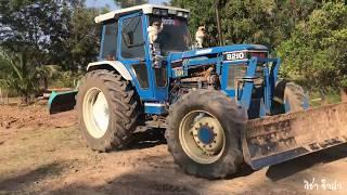 Download รถไถดันดิน เสียงดังสนั่น ทีมงานโชคนิธิ   Tractor FORD 8210 Video