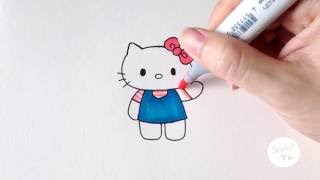 Download วาดคิตตี้กันจ้าาา ♪ How to draw Hello Kitty ♪ Video