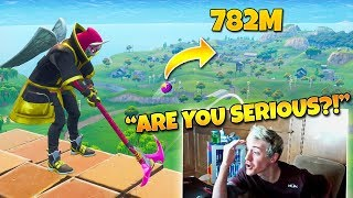 Download Ninja Reacts to ″The Best Golf Trickshot of all Time!″ (Twitch Moments Fortnite Reaction) Video